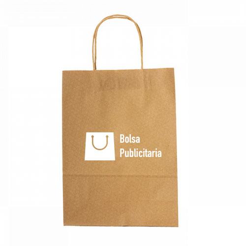 bolsa de papel kraft con logo personalizado