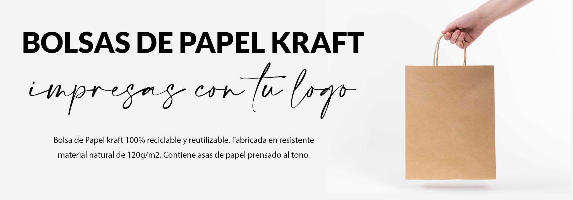 bolsa de papel kraft con logo impreso